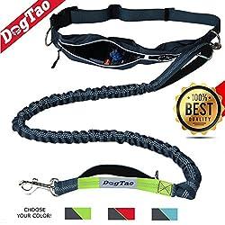 Dogtao • Jogging Hundeleine Mit Laufgürtel - Anti-shock Starke Elastische Freihand Joggingleine Für Große Und Kleine Hunde | Reflektierende Laufleine
