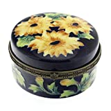 Old Tupton Ware - Sunflowers Design - Round Trinket Box with hinged lid