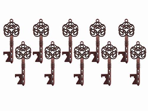 üssel, Flaschenöffner, antik Skelett Schlüssel Flaschenöffner, Hochzeit Party Favor Geschenk A4290-Copper ()