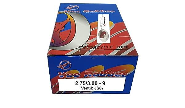 Tuyau moto 2.75//3.00-9 avec valve coud/ée JS87//TR87 2.75-9, 3.00-9