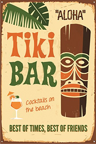 pared-de-metal-placa-cartel-Tiki-Bar-Aloha-regalo-15-x-20-cm