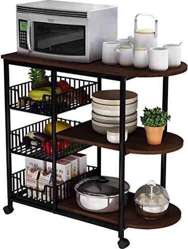 DJSMsnj Besteckständer Regal Multifunktions-Küchenregal Mikrowelle Ofen-Rack Küchenregal Removable Storage Racks (Color : A)