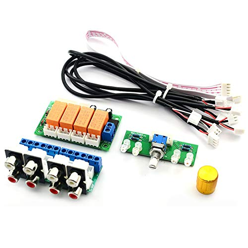 Silverdrew Selector señal entrada audio relé 4 vías