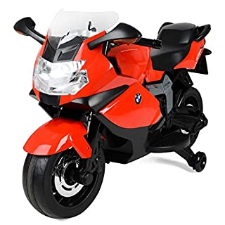 Toyrific Official BMW Electric Ride-On Motorbike for Kids with Headlights and Sound Effects