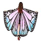 HLHN Frauen Schmetterling Flügel Schal Schals Nymphe Pixie Poncho Kostüm Zubehör für Show / Daily / Party (HellRosa)