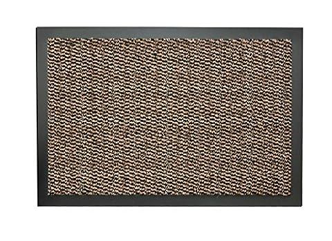 Brown 90x150cm Non Slip Entrance Floor Door Mat Machine Washable Heavy duty Commercial Office 100%Polypropylene Barrier Mats Cheap 7mm Thick Absorbent Pile (90x150cm (3x5'),