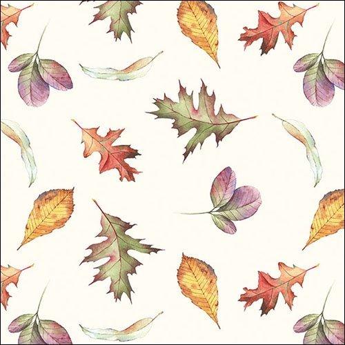 (Ambiente 3-Lagig Papier Bedruckt, Servietten, 33x 33cm, 20Stück, Falling Leaves)