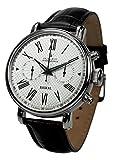 'poljot INT. Cronografo Baikal meccanico orologio da polso per uomo cinturino in pelle nero
