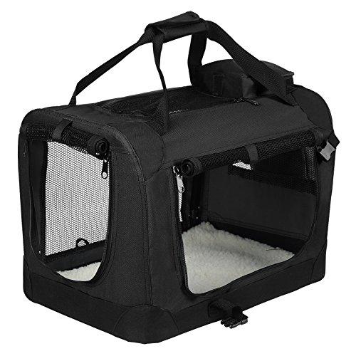Eugad borsa per cani animali domestici trasportino per viaggio in oxford gabbia box cuccia auto pieghevole portatile