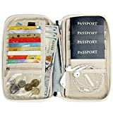 Bopipa Unisex Travel Family Passport Wallet with Hand Strap