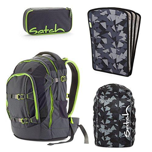 satch Pack Phantom 4-teiliges Set Rucksack, Schlamperbox, Triple Flex & Regenhaube Schwarz