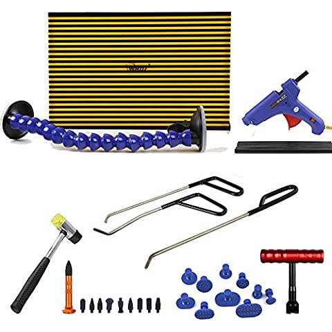 Paintless Dent Repair Tool Kit–PDR luce LED Borde PDR striscia linea Board con PDR Ding riparazione di ammaccature Rod