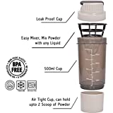 CP BIGBASKET Protein Gym Shaker Bottle 500 Ml (Grey)