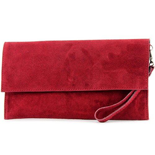 modamoda de - Made in Italy, Poschette giorno donna Rosso scuro