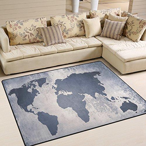Welt-kunst-karte (ingbags Super Soft modernen Welt Karte, ein Wohnzimmer Teppiche Teppich Schlafzimmer Teppich für Kinder Play massiv Home Decorator Boden Teppich und Teppiche 160x 121,9cm, multi, 80 x 58 Inch)