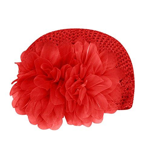 MerssavoRot Baby Mädchen Infant Blume-Stirnband Haarband Kleinkind Haarschmuck Headwear Hut