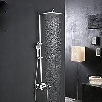 ZHGI Il rame set doccia quadrato di sollevamento doccia Vasca da bagno