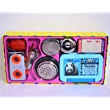 Realistic SMALL TOY Stainless Steel Kitchen Set With Toy Fridge And Box