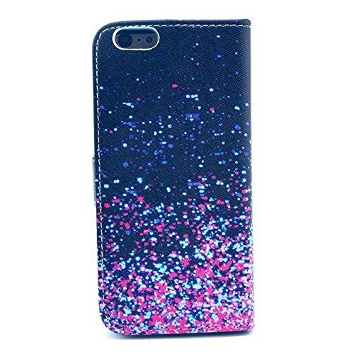 Monkey Cases® iPhone 64,7pouces-Motif flip case-- Mat-Premium-Original-Nouveau-Sac-Violet-Bleu # 2