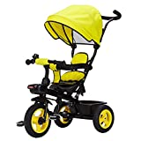 Dreirad Kinder Dreirad Fahrrad Baby Trolley 1-3 Jahre alt Kinderwagen 3 Räder Fahrrad Kinder ( Farbe : Gelb )