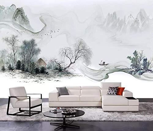 Italienische Schlafzimmer Dekor (Wemall Benutzerdefinierte tapete Chinesischen Stil Italienischen Tinte Landschaft Wohnzimmer Schlafzimmer wandbild TV hintergrundbild für wände 3 d @ 200x140_cm_ (78.7_by_55.1_in_) _)