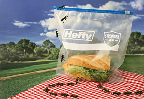 Hefty Plastic Storage Bag with Zipper, 11×11-inch, Multicolour – Pack of 10