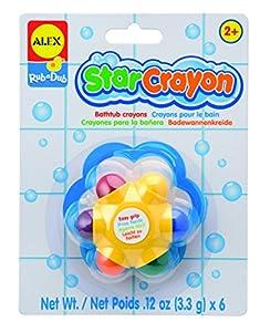 Alex - Pack de 6 ceras en forma de estrella para la bañera (Juratoys 639S)