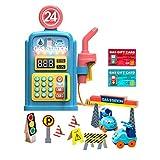 Toyvian 1 Set Stazione di Servizio Playset Pompa di Benzina Giocattolo per Bambini Fingere di Giocare con Il Suono per I Bambini Piccoli