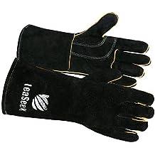 Piel Por leaseek – Guantes de barbacoa resistente al calor y retardante de llama soldadura guantes