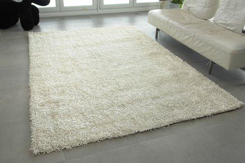 Kasper-Wohndesign W001 Nummer 26 Teppich, Stoff, weiß, 230 x 160 x 1,5 cm