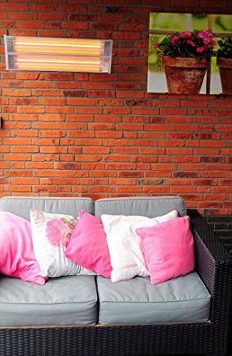 OutTrade Heizung Wand 2400 W, Grau, 70 x 8 x 25 cm - 3