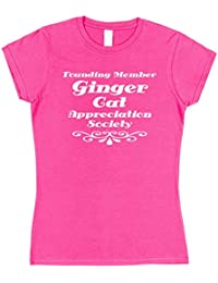 Click My Clobber Womens, T-Shirt, Founding Member Ginger Cat Appreciation Society Great Christmas Gift Idea for Cat Lover,