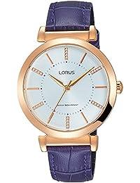 Lorus Reloj Analógico para Mujer de Cuarzo con Correa en Cuero RG208LX9