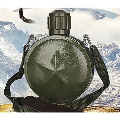 GG Militar al aire libre termo vacío de acero inoxidable taza pote hervidor de agua en el bote de brújula de viaje de ejército