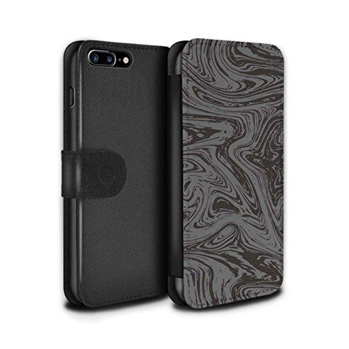 Stuff4 Coque/Etui/Housse Cuir PU Case/Cover pour Apple iPhone 8 Plus / Vert Design / Effet Métal Liquide Fondu Collection Argent