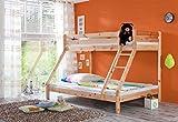 Etagenbett 3 Schlafplätze Kiefer massiv lackiert