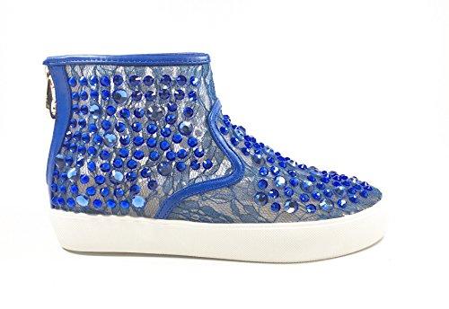 SARA LOPEZ , Baskets pour femme multicolore multicolore 35 Bleuet