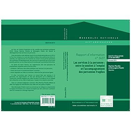 Rapport d'information sur l'évaluation du développement des services à la personne