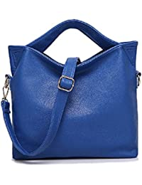 Women New Pu Leather Handbags Tote Purse Bag Shoulder Satchel Messenger ( Blue ) By Vjp