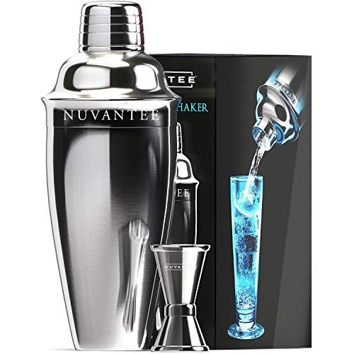 Nuvantee Set Cóctel Shaker, Premium Kit Bar con Filtro Incorporado ,con Vaso Medidor, 700 ml