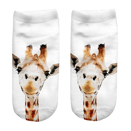 Saingace® 3D Printed Animal Women Casual Socks Cute Cat Unisex Low Cut Ankle Socks