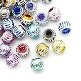 100pcs rond en aluminium mixte Perles Charms Bijoux Apprêt 9mm