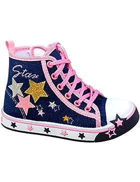 GIBRA® Sneaker für Mädchen, dunkelblau/rosa, Gr. 25-30
