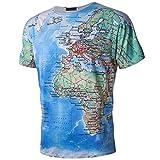 Jaminy 3D Druckten Herren Sommer-Beiläufige Kurzarm Hülsen-T-Shirts T-Stücke Bluse Tops, Stilvolle Beiläufige Entwurf Druckte Kurze Tees Muster Sweatshirt Pullover Baumwolle (M, Mehrfarbig)