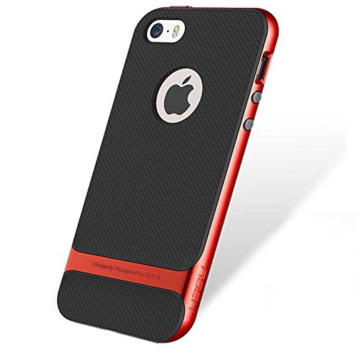 iPhone SE 5S 5 Hülle - Rock Royce Hybrid Case für iPhone SE 5S 5 Handy Tasche Bumper Schutz Hülle - Rot