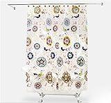 PLYY Eva Chinese American Retro Duschvorhang Wasserdicht Verdicken Mehltau WC Badezimmer Duschvorhang Duschvorhang Tuch Batik Blume Vogel, 180 * 200cm