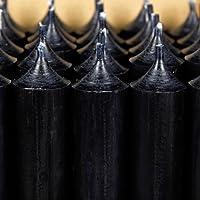 Bütic GmbH durchgefärbte Stabkerzen 250mm x 22mm - hochgereinigte Kerzen mit rückstandsfreiem Abbrand, Farbe:Schwarz... preisvergleich bei billige-tabletten.eu
