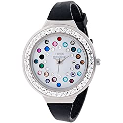 Ladies' THINK POSITIVE® Model SE W116A Star Dust Tunnel Medium Steel Strap Silicone Color Mix Black