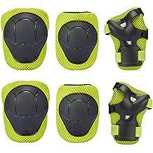 Rodilleras, Gim Kid 's Protective Gear Set Almohadillas de Rodilla Codo Muñeca apoyo para niño rodillo/Patinaje/BMX/bike/monopatín, verde