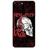 Grunge Cult Fun Tête de mort Art Hipster Musique téléphone Housse/Coque rigide pour Apple téléphone portable, plastique, Non Stop Music Headphone Skull, Apple iPhone 7 Plus